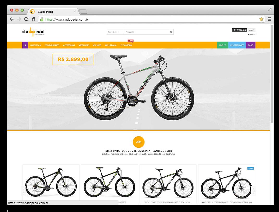 Site Cia do Pedal